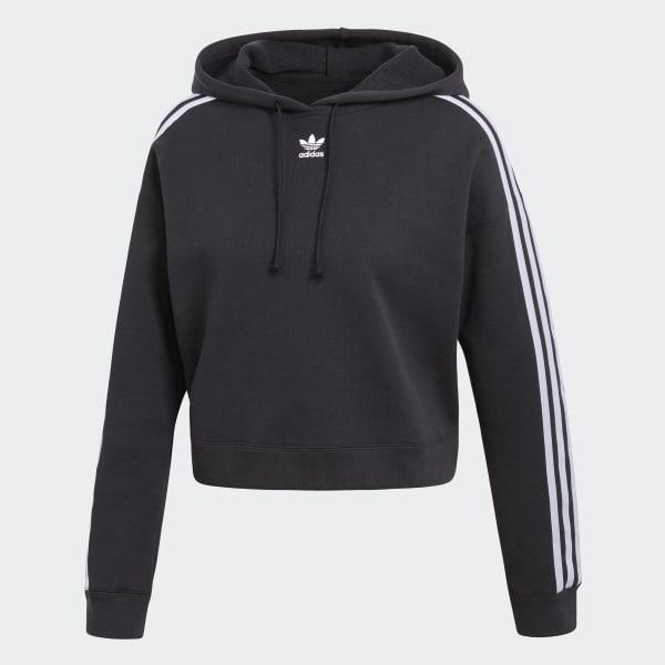 Adidas Women's Cropped Hoodie Dark Blue