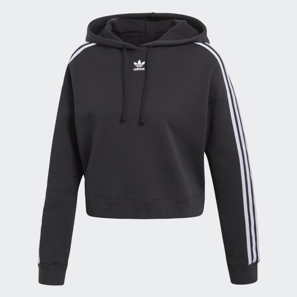 sweat-shirt à capuche cropped - noir adidas | adidas france