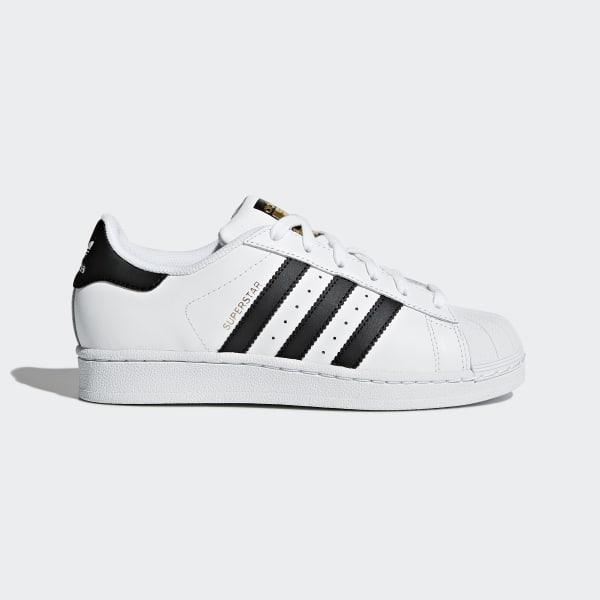 Zapatillas adidas Superstar Junior en color blanco