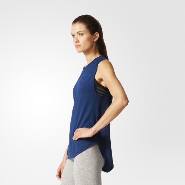 09c2340e7c Camiseta Sem Mangas - Azul adidas