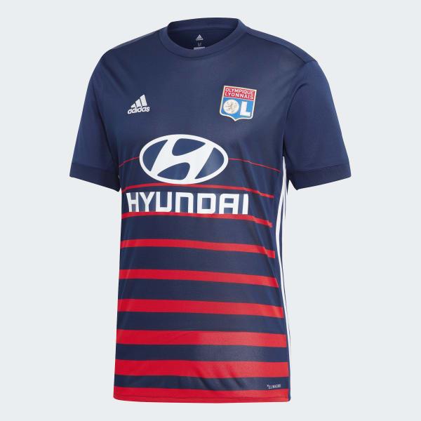 adidas Olympique Lyonnais Away Jersey - Blue  9d6f882be