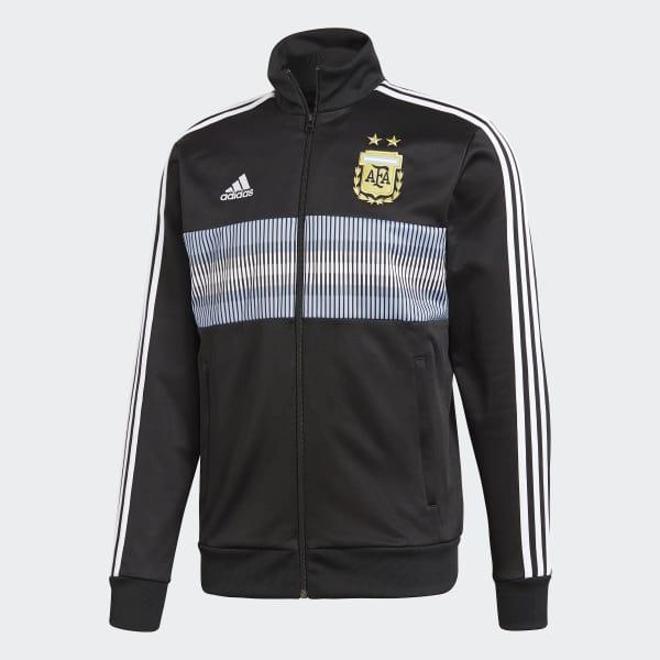 adidas Chamarra Selección Argentina 3 Franjas 2018 - Negro  d780a046a1d75