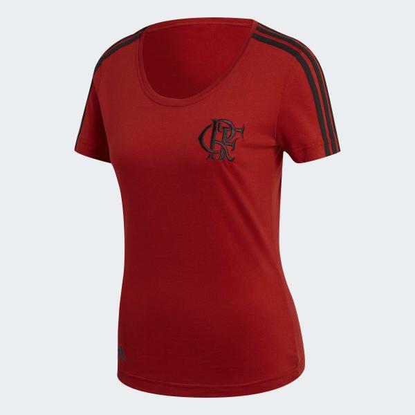 Camiseta 3-Stripes CR Flamengo Feminina - Vermelho adidas  7edfe02401c39