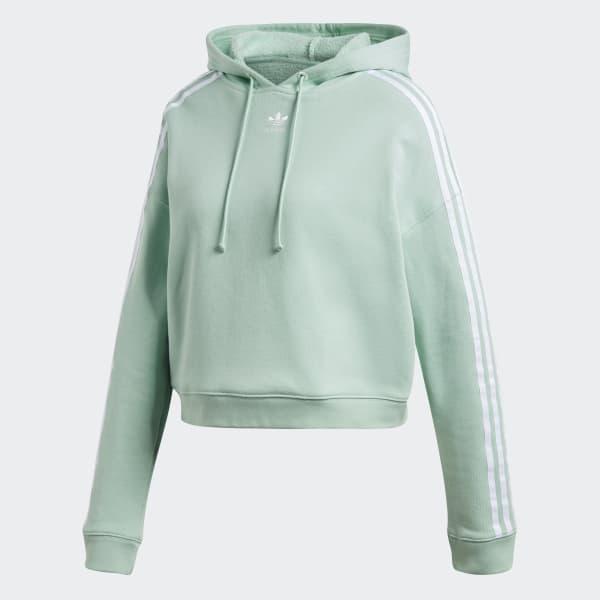 adidas Cropped Hoodie - Green | adidas UK