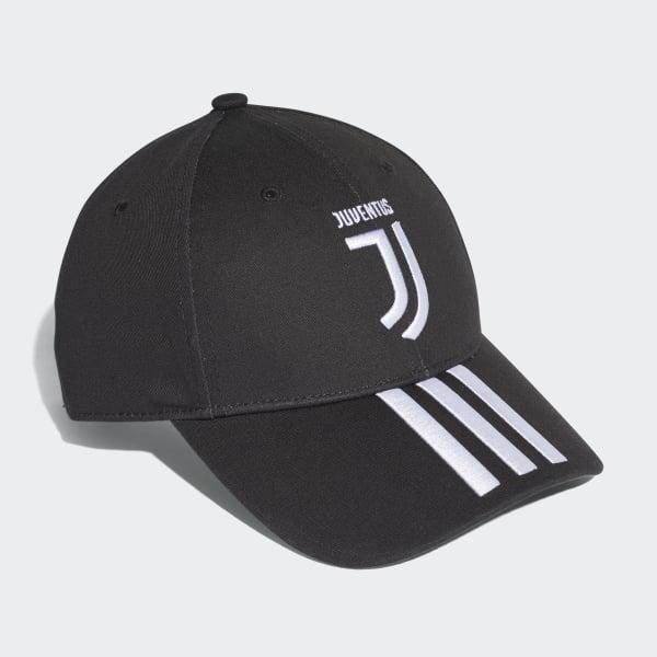 adidas Gorra 3 Rayas Juventus - Negro  f28cdc82d81