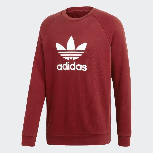 994aea6c165b adidas Trefoil Crewneck Sweatshirt - Red