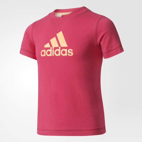Camiseta Essentials Logo - Violeta adidas  be858535e1e55