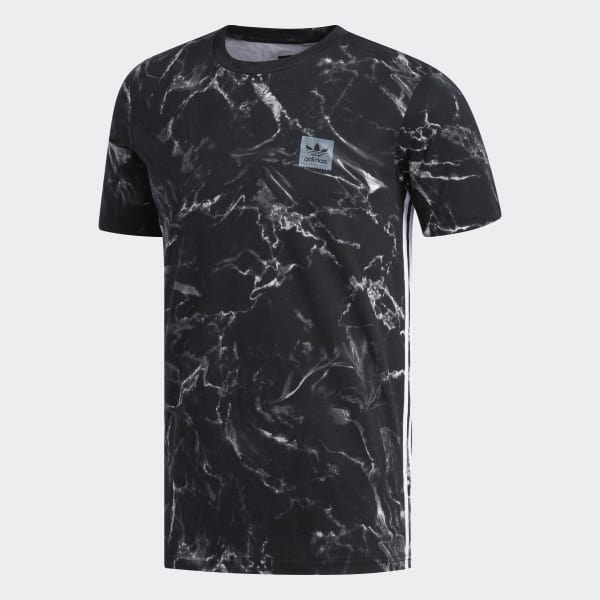 Polera Marble Stripe - Negro adidas  f121be454e0df