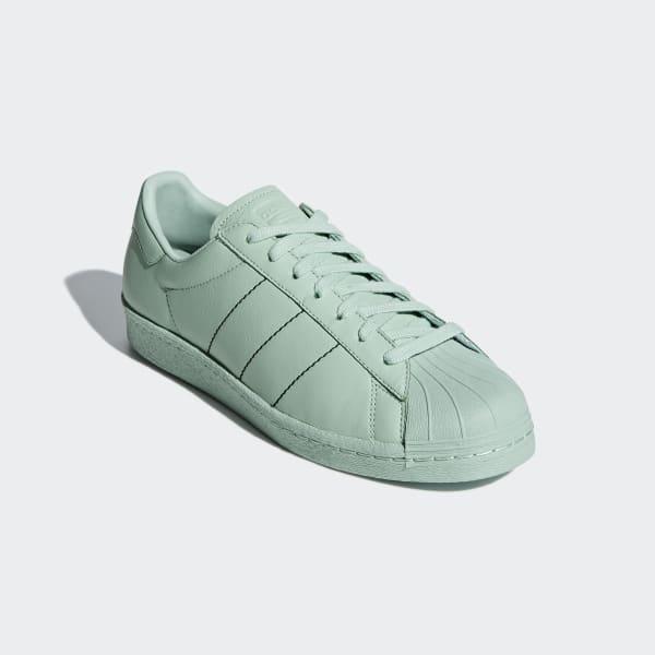 bb01921c81861f Superstar 80s Schuh. Schnürsenkel  Obermaterial aus Leder  Gummi-Cupsohle   Futter aus Synthetikleder. Farbe  Ash Green ...