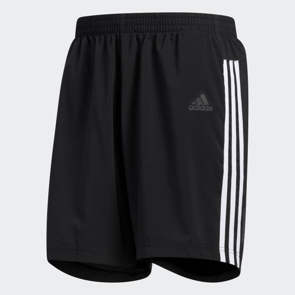 Salto Hambre girasol  adidas Running 3-Stripes Shorts - Black | adidas US