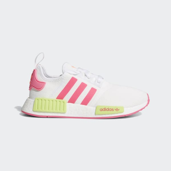 NMD R1 White and Pink Shoes | adidas
