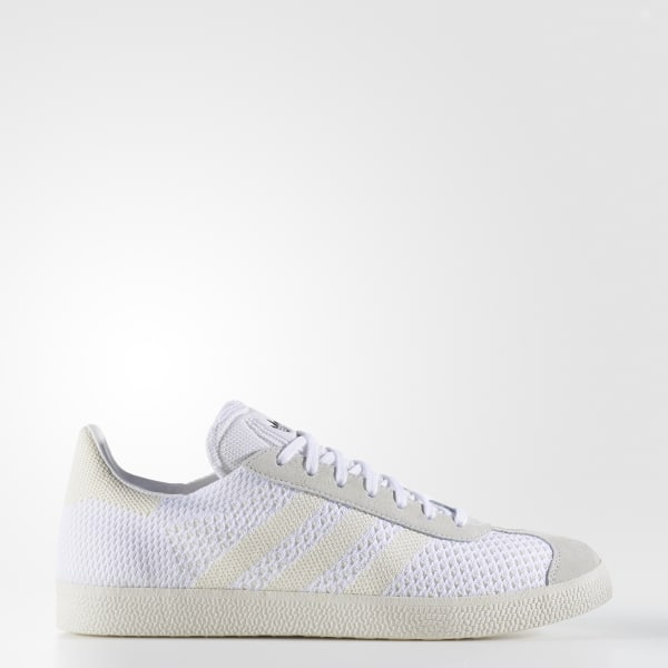 adidas Gazelle Primeknit Shoes White | adidas UK
