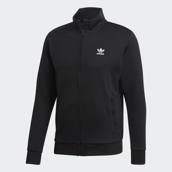 Veste de survêtement trefoil essentials noir Adidas