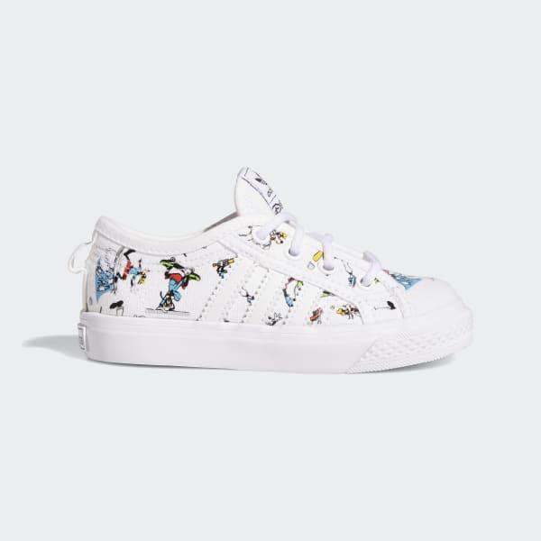 Baskets nizza x disney sport goofy blanc Adidas Originals