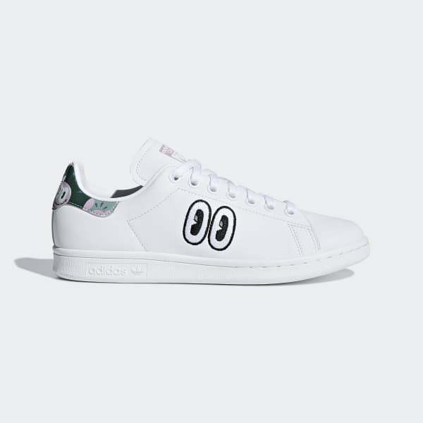 rociar nombre de la marca junto a  adidas Tenis Stan Smith - Blanco | adidas Mexico