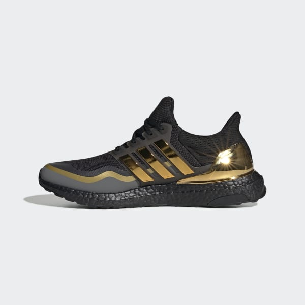 Ultraboost Core Black and Gold Shoes