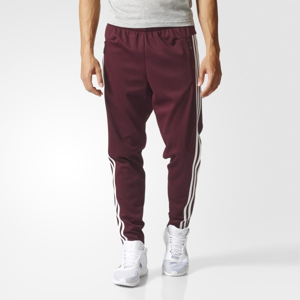 adidas Tiro 3-Stripes Pants - Red | adidas US