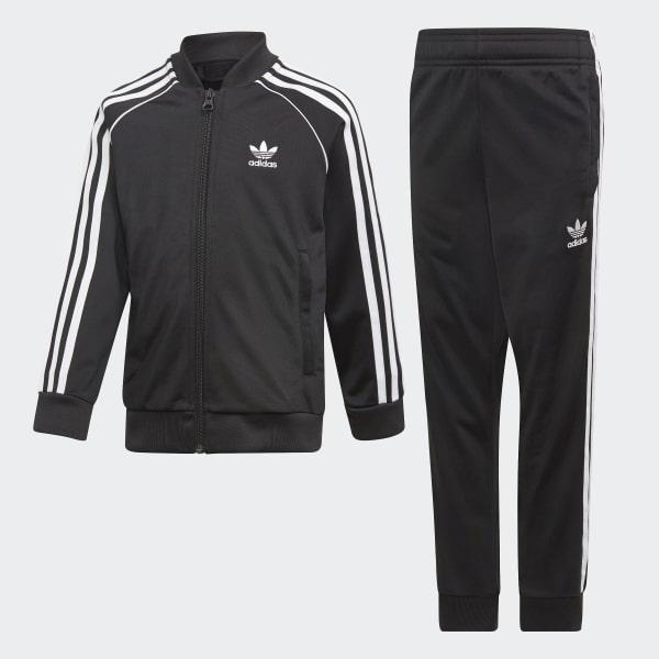 SST Kids Tracksuit BlackWhite Adidas Originals