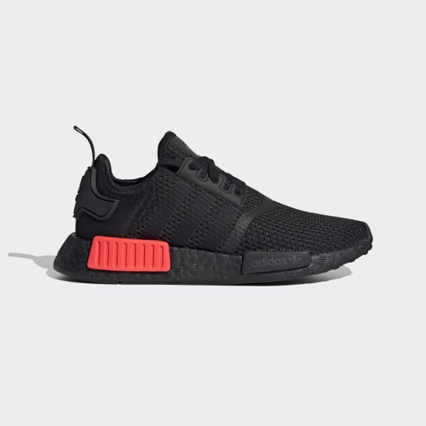 Kids NMD R1 Core Black and Red Shoes