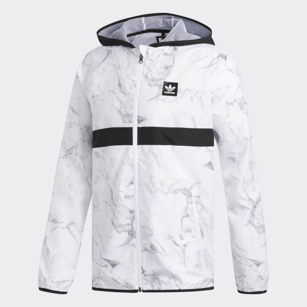 adidas Marble BB Packable Wind Jacket - White  a7c158490