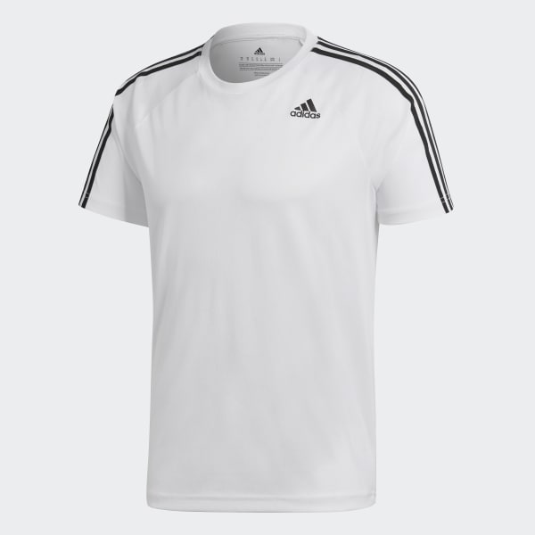 Camiseta D2M 3-Stripes - Branco adidas  d0b3bb97ba470