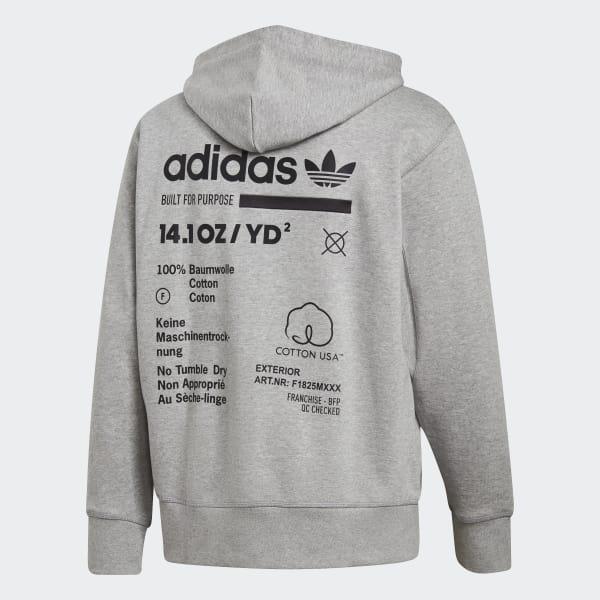 9c52f3f432a Blusa Capuz Kaval - Cinza adidas