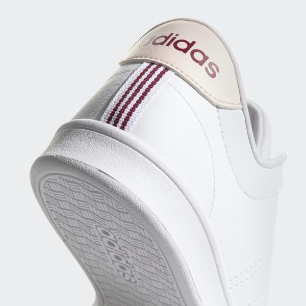 Zapatillas Casual Mujer Adidas Advantage Clean Qt Blanco