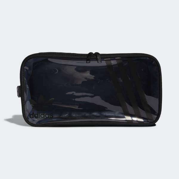 adidas Clear 3-Stripes Shoe Bag - Black