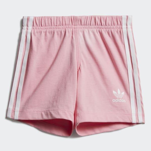 adidas Trefoil Shorts Tee Set - White