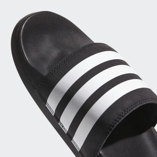 71f013508 adidas Adilette Cloudfoam Plus Stripes Slides - Black