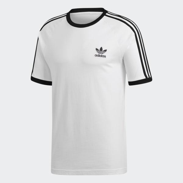 Camiseta 3-Stripes - Branco adidas  ff9aaf8f069c1