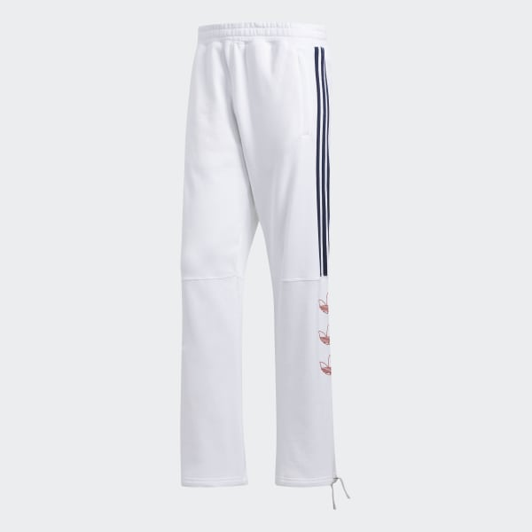 Trefoil Stripe Sweatpants In White