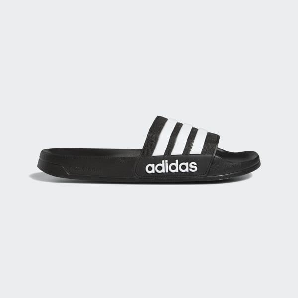 Men's adilette White and Black Cloudfoam Slides | adidas US