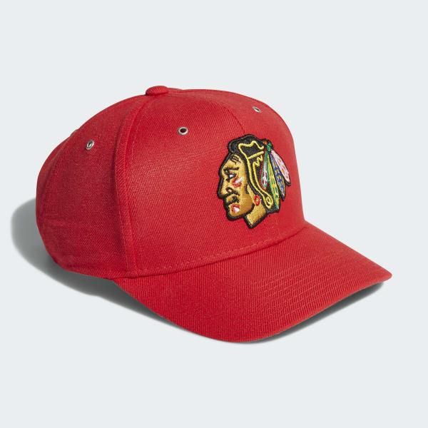 Blackhawks Adjustable Leather Strap Hat