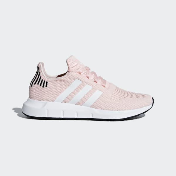 basket adidas running rose et blanc