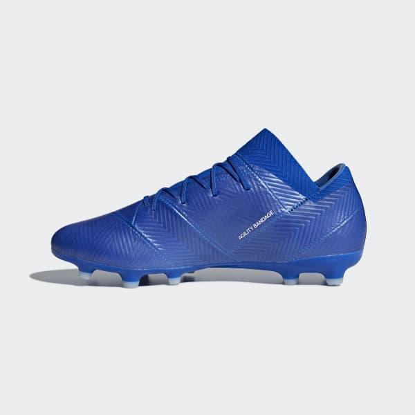 Bota de fútbol Nemeziz 18.2 césped natural seco - Azul adidas ... c3956243cb0e0