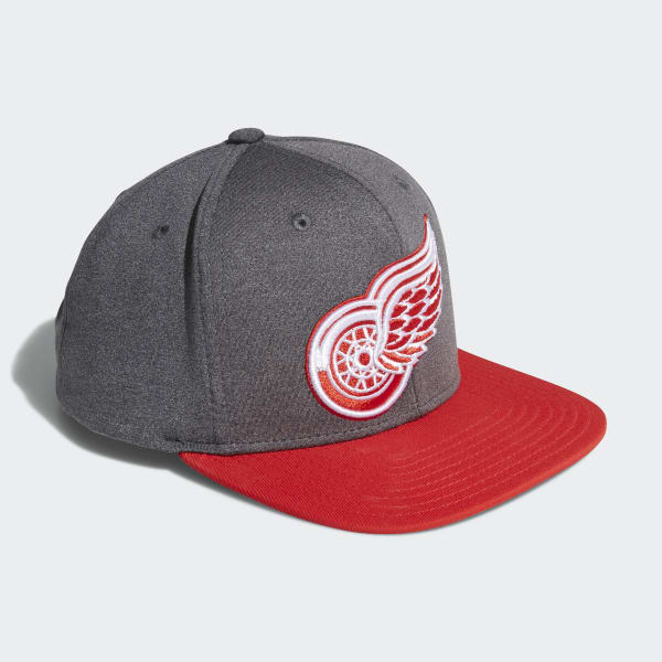 Red Wings Snapback Heathered Grey Hat