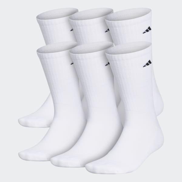 Torpe Esperar algo Adjunto archivo  adidas Athletic Cushioned Crew Socks 6 Pairs XL - White | adidas US
