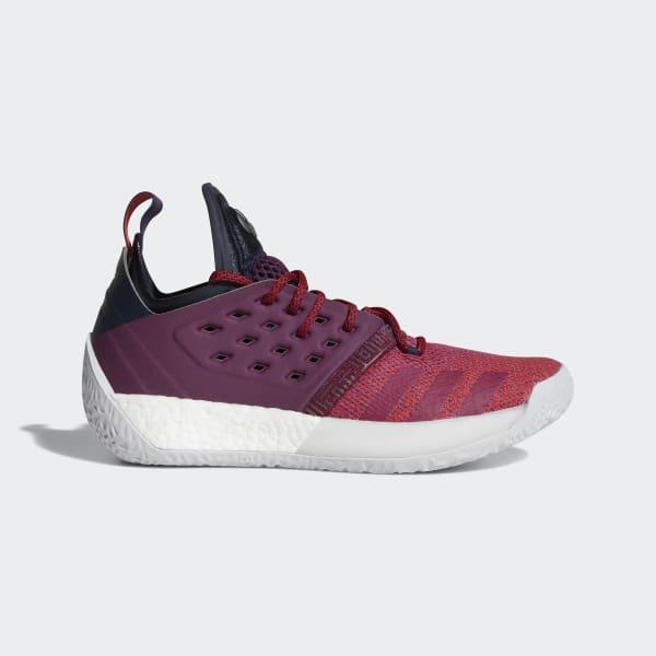 Adidas Harden Vol. 2 [AH2124] Men Basketball Shoes Bold Red/Light Grey