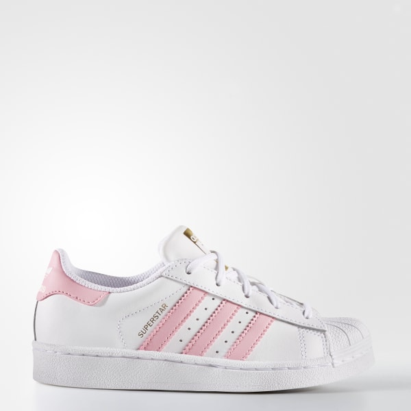 isola Pattumiera Affronta  Kids Superstar Cloud White and Light Pink Shoes | adidas US