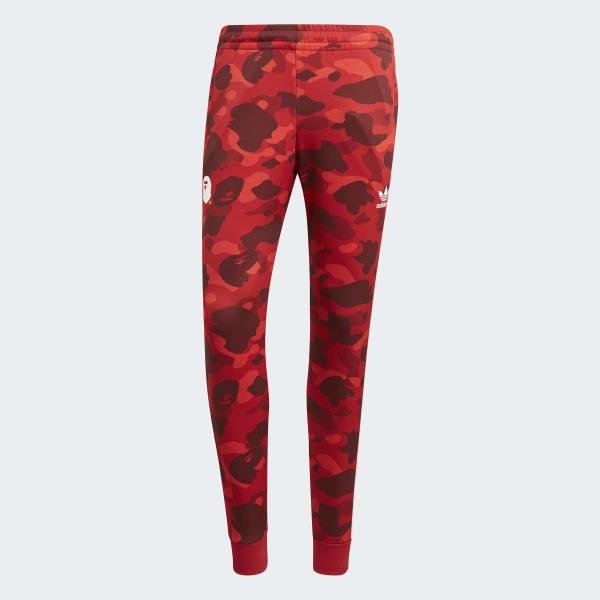 adidas BAPE x adidas Track Pants - Red  76cc76a9d