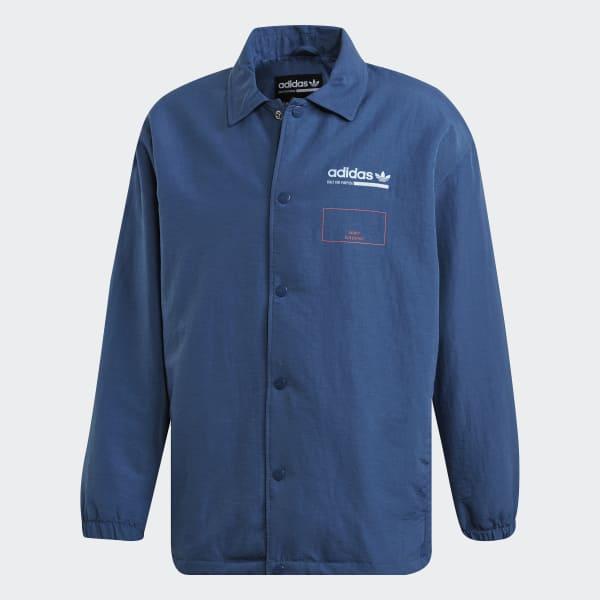 1ab3ef503ae Jaqueta Estampada Kaval Coach - Azul adidas