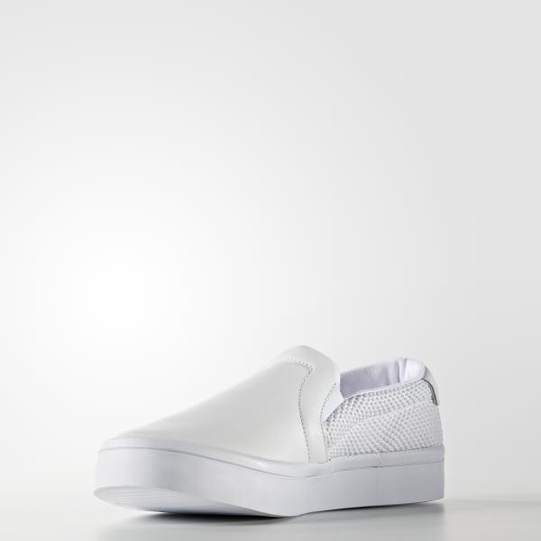 9456a48e0905e2 adidas Women s Court Vantage Slip-on Shoes - White