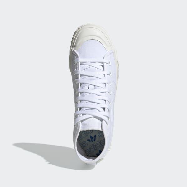 Nizza RF Hi Cloud White and Off White Shoes | adidas US