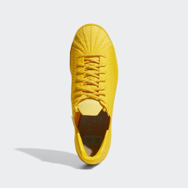 adidas Pharrell Williams Superstar Primeknit Sko Gull