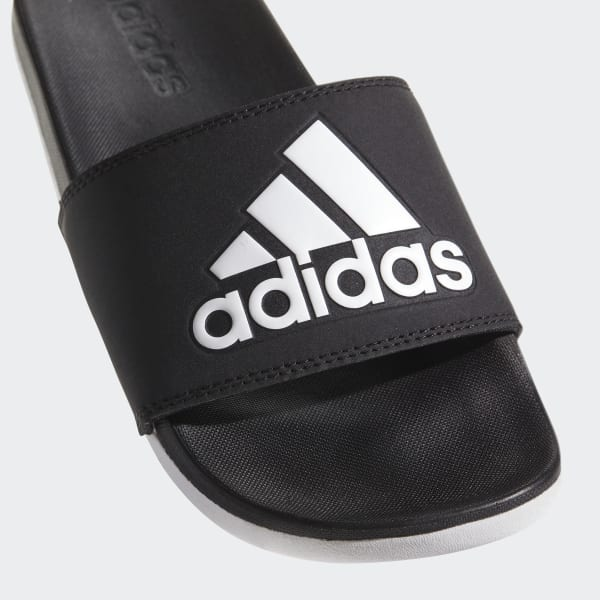 8d859f8b0ddaed adidas Adilette Cloudfoam Plus Logo Slides - Black