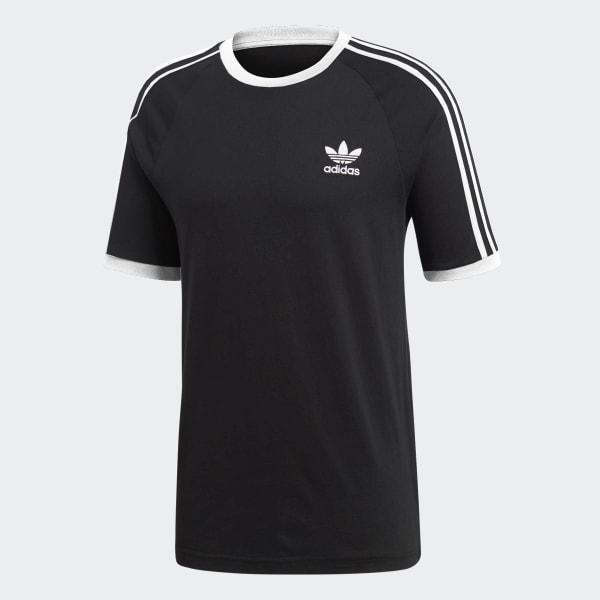 adidas 3 Streifen T Shirt Schwarz | adidas Deutschland