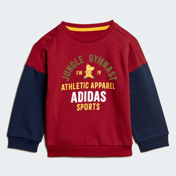 Adidas Kids Set Training Graphic Terry Jogger Athletic Fashion Sport Boys ED1170