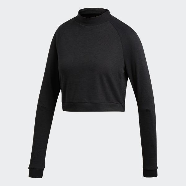 e62a3727c3ce adidas ID Cropped Tee - Black