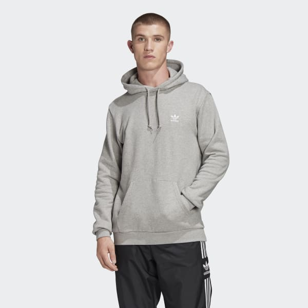 adidas Trefoil Essentials Hoodie Grau | adidas Austria